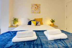Serviced accommodation bedroom